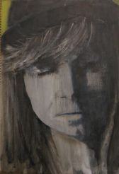 Lost in Puberty. Annica Delfos 22 x 32 cm. Oil paint on paper.