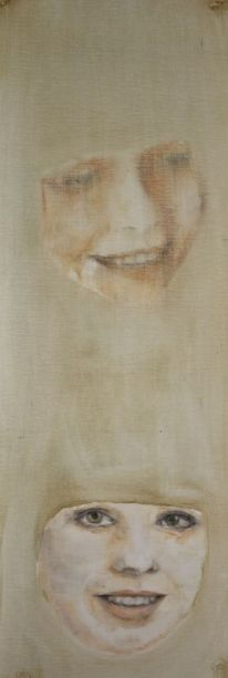How can one know oneself . Annica Delfos .20 x 55 cm. Oil paint on primed linen