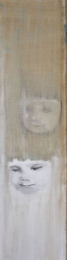 How can one know oneself . Annica Delfos.20 x 55 cm. Oil paint on primed linen