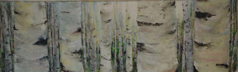 Walk the Walk . Annica Delfos 195 x 60 cm oilpainting