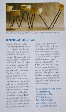 Article Dutch/ Belgium Magazin. Annica Delfos