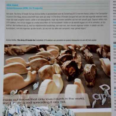Dutch Ceramic magazine. The Army of Inside Out. Annica Delfos