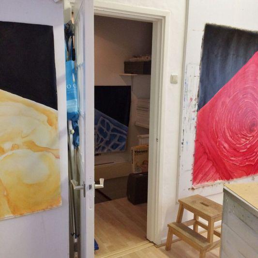 Drying on studio walls. Annica Delfos