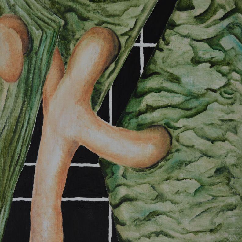 Making Spring 45 x 45 cm Annica Delfos Kunstenaar in Den Haag
