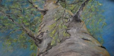High high in the sky. Annica Delfos +/-50 x 100 cm oilpainting