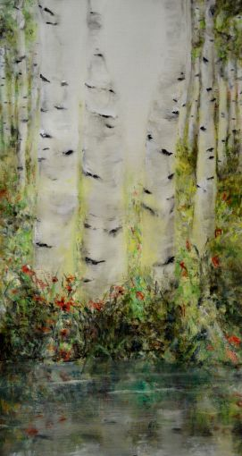 Spring is Alive. Annica Delfos +/-100 x 50 cm