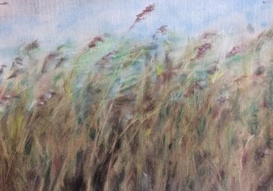 Wind . Annica Delfos 26 x 14 cm oilpainting