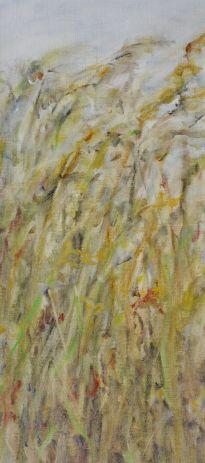 Hiding. Annica Delfos. 45 x 20 cm. Oilpaint on primed linen