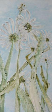 Life. Annica Delfos. 100 x 45 cm. Oil paint on primed linen.