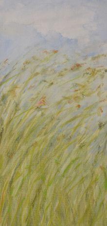 Free. Annica Delfos. 18 x 35 cm . Oil paint on canvas.