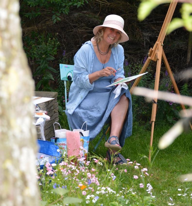 Annica Delfos Kunstenaar Open tuinen Den Haag