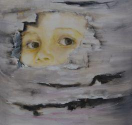 Me 3 .Annica Delfos. 45 x 45 cm . Oil paint on canvas