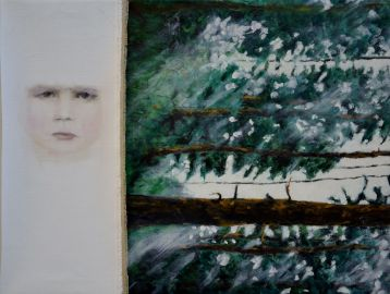 The Day Before Tomorrow. Annica Delfos . 40 x 60 cm . Oilpaint on canvas. Collage