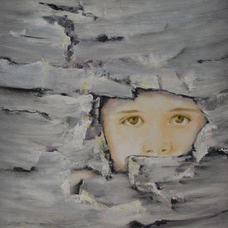 Me. Annica Delfos. 45 x 45 cm Oil paint on canvas