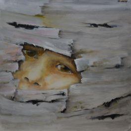 Me 2. Annica Delfos 45 x 45 cm. Oil paint on canvas